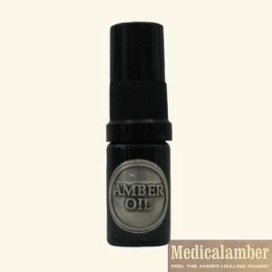 Amber oil to damaged skin care