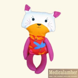 Doll  with amber filling - Kitty