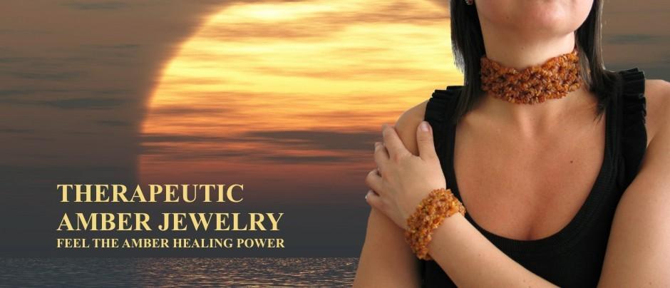 Healing amber jewelry