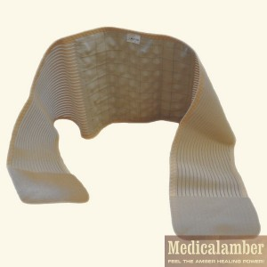 Lumbosacral orthose with amber gemstone